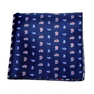 Niebieska poszetka paisley