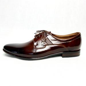 Eleganckie brązowe skórzane buty męskie