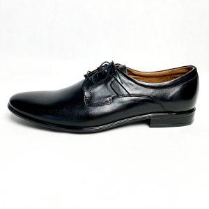 Eleganckie czarne skórzane buty męskie